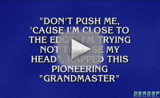 Alex Trebek Raps on Jeopardy