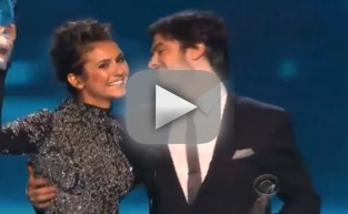 Ian Somerhalder and Nina Dobrev Win at People's Choice Awards