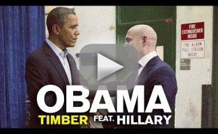 "Barack Obama and Hillary Clinton ""Sing"" Timber"