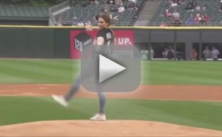 McKayla Maroney First Pitch