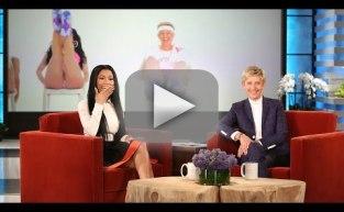 "Nicki Minaj Reacts to Ellen's ""Anaconda"" Video"