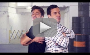Jimmy Fallon and Brad Pitt Engaged in Breakdance Conversation
