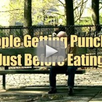 People Getting Punched Just Before Eating