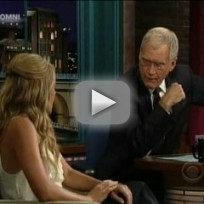 Lauren Conrad and David Letterman