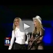 Britney Sort of Performs with Madonna