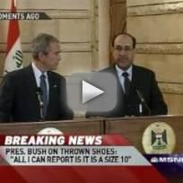 George W. Bush Greeted Warmly in Iraq