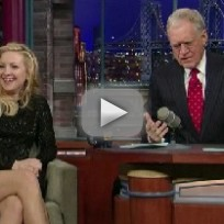 Kate Hudson on the Late Show