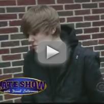 Bieber on Letterman