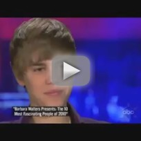 Justin Bieber with Barbara Walters
