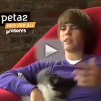 Justin Bieber PETA Ad