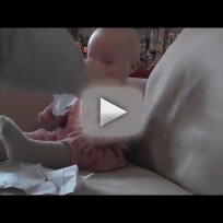 Baby Laughs at Ripping Paper