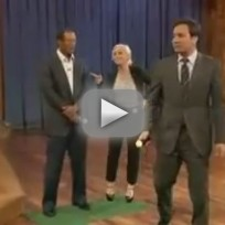 Tiger Woods on Late Night With Jimmy Fallon - Part 2