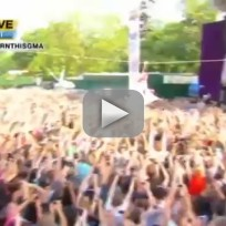 Lady Gaga Ziplines on GMA
