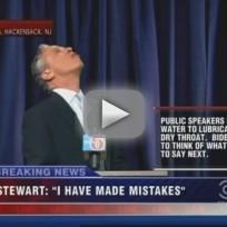 Jon Stewart Bleeds During Anthony Weiner Sketch