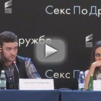 Mila Kunis Versus Russian Reporter