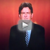 Charlie Sheen at the Emmy Awards