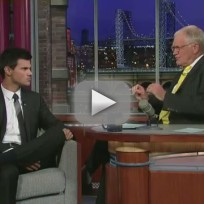 Taylor Lautner on The Late Show