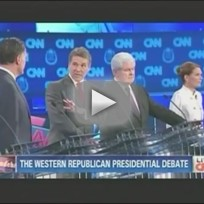 Rick Perry and Mitt Romney Argue at GOP Debate