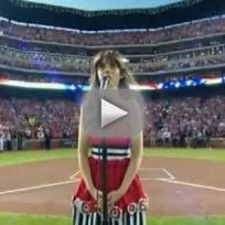 Zooey Deschanel Sings National Anthem
