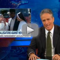 Jon Stewart Goes Off on Herman Cain