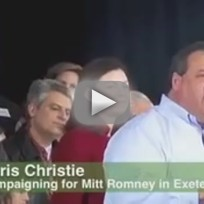 Chris Christie at Mitt Romney Rally