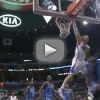 Blake griffin dunks over kendrck perkins