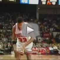 Michael Jordan Dunks Off Missed FT
