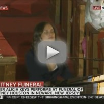 Alicia keys send me an angel whitney houston funeral