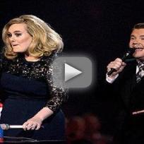 Adele Flips Off the Brit Awards
