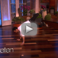 Justin Theroux Dances on Ellen