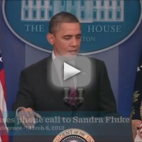President Obama on Sandra Fluke, Rush Limbaugh