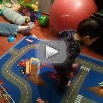 Toddler Discovers What a Shadow is