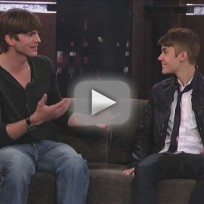 Justin Bieber and Ashton Kutcher on Jimmy Kimmel Live (Part 2)