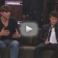 Justin Bieber and Ashton Kutcher on Jimmy Kimmel Live (Part 4)