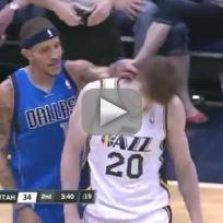 Delonte West Gives Gordon Hayward Wet Willy