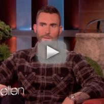 Adam Levine on Ellen