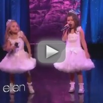 Sophia grace and rosie starships live on ellen