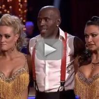 Donald Driver, Peta Murgatroyd and Karina Smirnoff on Dancing With the Stars