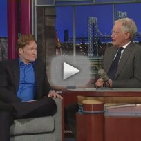 Conan obrien on the late show with david letterman