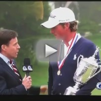 Bird Man Interrupts Webb Simpson Interview