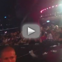 Madonna Fans Pelt Stage with Debris