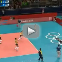Brazil Volleyball Kick Save