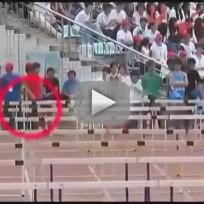 Chinese Hurdler Crashes Through EVERYTHING