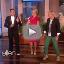 Britney spears psy on ellen