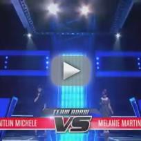 Melanie Martinez vs. Caitlin Michelle - Lights (The Voice Battle Round)