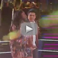Julio Cesar Castillo vs. Teresa Griffin - Conga (The Voice Battle Round)