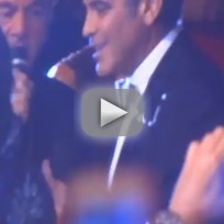 George Clooney and Neil Diamond Duet