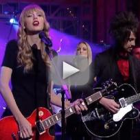 Taylor Swift on The Late Show