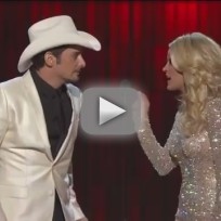 Carrie Underwood and Brad Paisley Go Gangnam Style
