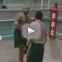 Over-Confident Boxer Gets Knocked Out